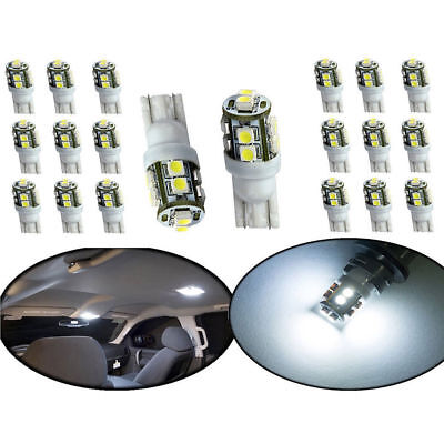 20PCS Car White LED Light T10 10SMD Wedge W5W 2825 158 192 168 194 LED Bulbs Kit