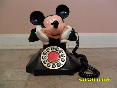 Mickey Mouse Desk Telephone by M.H. Segan Telemania WORKS!!