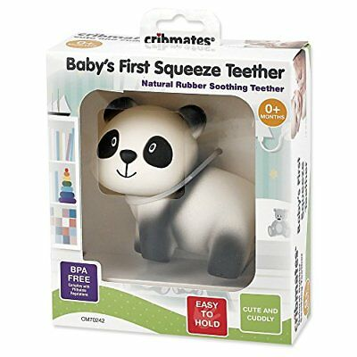CRIBMATES BABY'S 1st SQUEEZE Teether/Teething TOY Soft Natural Rubber PANDA NEW