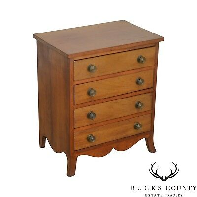 Hepplewhite Style Antique Cherry Salesman Sample Chest of Drawers Nightstand