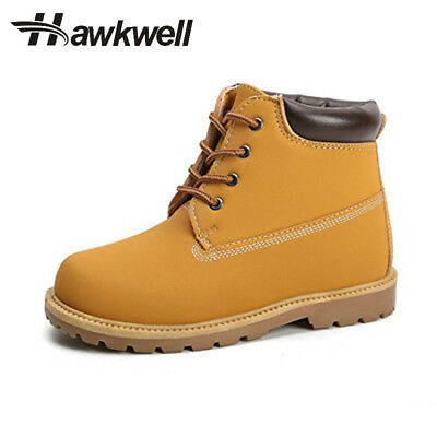 3890e193ea79 Kids Casual Ankle Boots Lace-up Outdoor Black Navy Tan Autumn Winter  Hawkwell