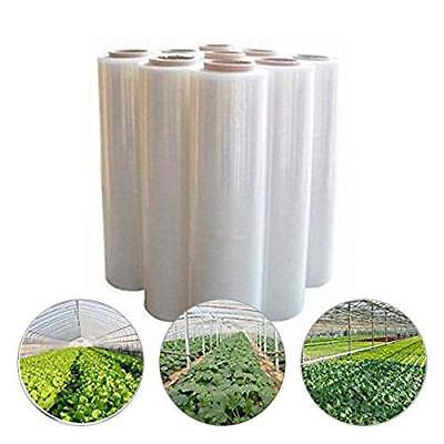 DCP 2.4Mil Plastic Covering Clear Greenhouse Film UV Resistant,12x30ft