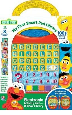 SESAME STREET MY FIRST SMART PAD ELECTRONIC ACTIVITY PAD and 8 BOOK LIBRARY