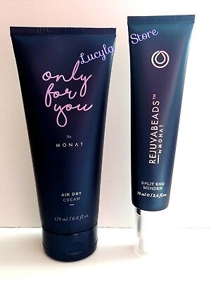 Monat Hair Air Dry Cream Only For You 6.0 oz + Rejuvabeads Split End 2 Pcs