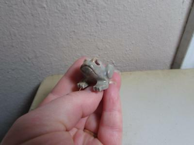 Frog, Hand carved Stone from the Andes. Richly Hued Miniature Stone Frog, Unique
