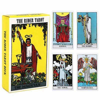 Tarot Cards Deck Vintage Antique Set High Quality YELLOW Card Box SU