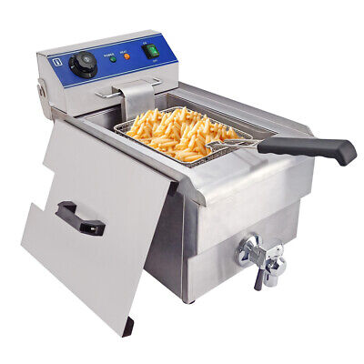 10L Electric  Deep Fryer Stainless Steel Fat Frying Chip Commercial Single Tank
