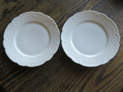 "2 Antique Haviland Limoges France Marseille Salad Plates 7 3/4"" White"