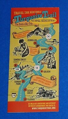 Brand New Charming New Mexico Turquoise Trail Map Pamphlet National Scenic Byway