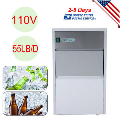 Built-In Stainless Commercial Ice Cube Maker Portable Ice Machine Restaurant US