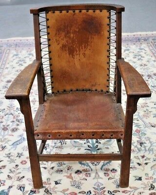 Antique Ford Johnson & Co. Arts & Crafts Chair Chicago (Circa 1905)