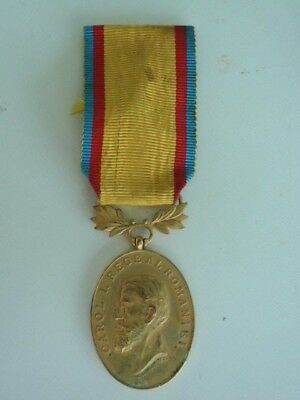 Romania Manhood & Loyalty Medal 1St Class With Maker's Name. Rare
