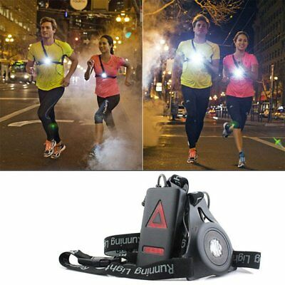 LED Running Chest Light Warning Lights Walking Torch Red & White Waterproof SW