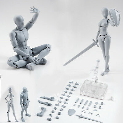 Drawing Figures for Artists Action Figure Model Human Mannequin Man Woman w/Kits