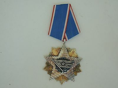 Yugoslavia Order Of The Flag 4Th Class. Silver. Marked. Numbered. Vf+