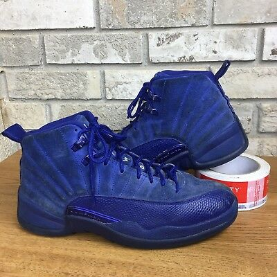 Nike Air Jordan 12 XII Royal Blue Suede Mens Size 7.5 Basketball Shoe 130690-400