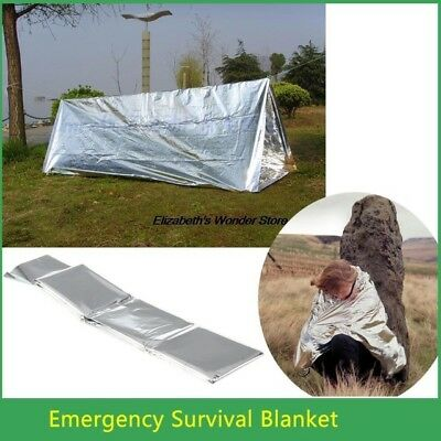 Emergency Blanket Thermal First Aid Survival Silver Foil Waterproof Rescue Kit