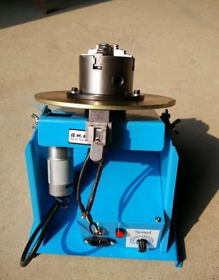 Welding Turntable Positioner With 80mm Chuck AC 110-240V 2-20RPM 10KG Light Duty