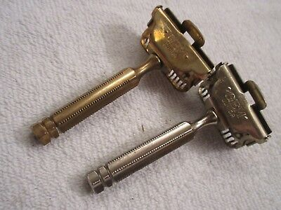 vintage Gem safety razors one gold toned lot of 2 lot T5