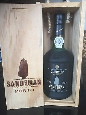 Sandeman Founders Reserve Porto Port. Vry Rare 375ml Size In Wood Box. 1995