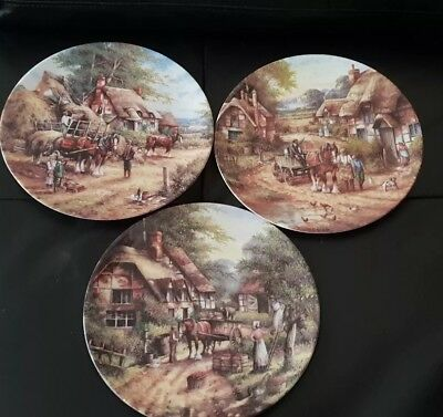 3 x Wedgwood Country Days Collectors Plates by chris howells