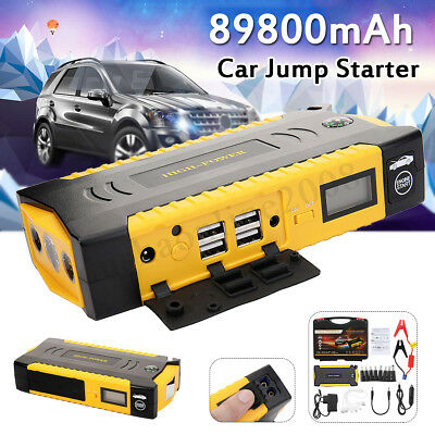 89800mAh Voiture Car Jump Starter Booster 4 USB Batterie Chargeur Power Bank 12V