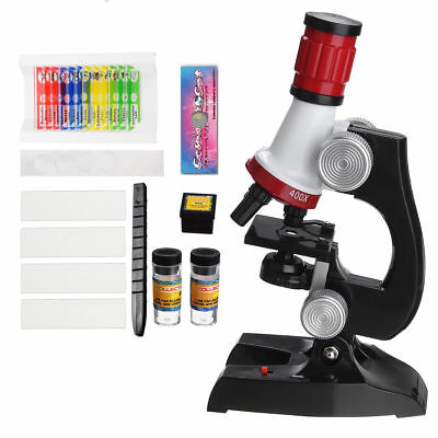 Kids Microscope Kit Scientific Exploration Birthday Christmas ABS LED Beginner
