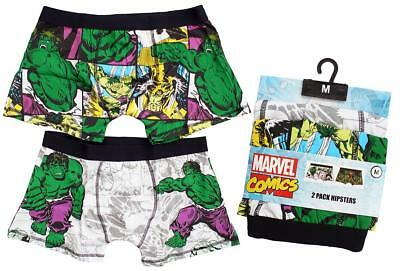 21eefb5cfb Mens PACK OF 2 Marvel Comics HULK Boxer Trunk Fit Hipster Briefs Small
