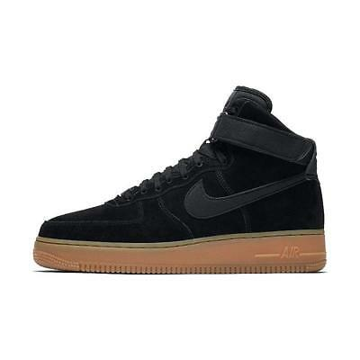 new style 205cb f6bfb NIKE AIR FORCE 1 HIGH 07 LV8 SUEDE Scarpe Sneakers Uomo Man AA1118 001 NERO