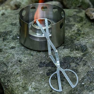 Campfire Folding Tongs Log Grabber Indoor Outdoor Clip Fireplace Fire Pit Tools
