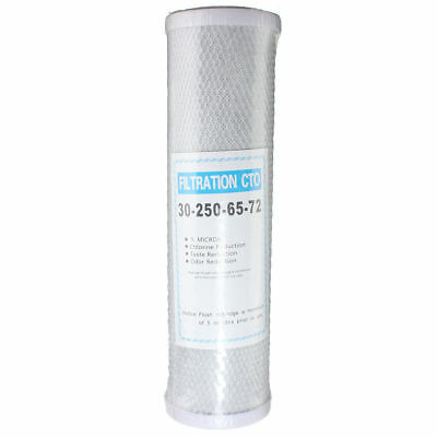 1 Pc Replacement 10 Inch Activated Carbon Water Filter Cartridge RO CTO 5 Micron