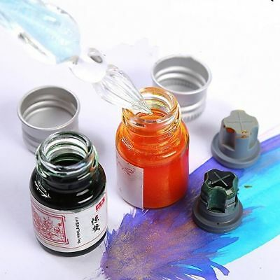 Ink For Fountain Glitter Gold Powder Color Dip Pen Calligraphy Writing 5ML