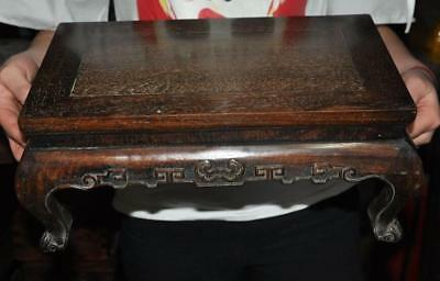 "15"" Collection rare china huanghuali wood Hand carved Ceremony Tea Table Desk"