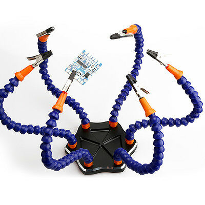 6-Arm Helping Hands Soldering Tool RC Drone Workstation+Swiveling Alligator Clip