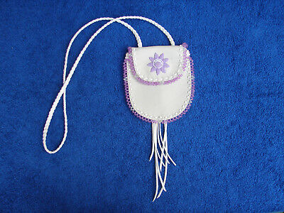 Medicine Bag  Native American  Beaded  Leather  Necklace Pouch  Handmade  Tribal