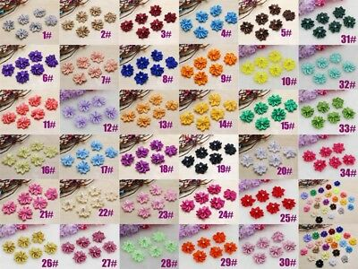 NEW around 25-28 mm 10-100pcs Crafts Satin Ribbon flowers Crystal Appliques DIY