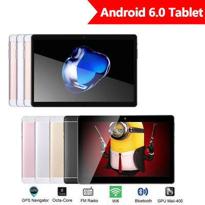 10.1'' Tablet PC Android 6.0 Octa Core 4+64GB 10 Inch HD WIFI 4G Phone Phablet #