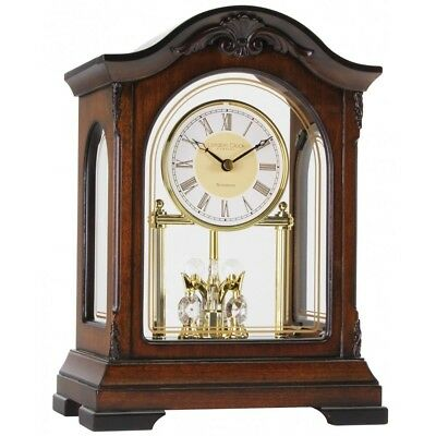 London Clock wooden mantel clock with rotating pendulum and Westminster chime