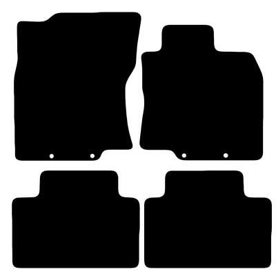 Tailored Black Car Floor Mats Carpets 4pc Set for Nissan XTrail 2014 onwards