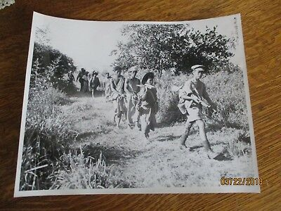 WWII Kachin Soldiers Tonnges Harbors Japanese Spies Burma  8x10 Photo 1944 USA