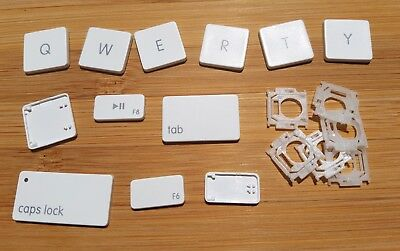 Macbook white unibody A1342 individual replacement key (1pc) with hinge clip