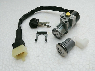 Honda ELITE 150 CH150 Scooter 4Wires Main Ignition Switch Comb Key Seat Lock Set