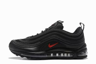 Nike Air Max 97 Silver Black RED Originali& nuove con scatolo e cartellino