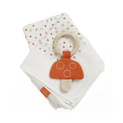 Natures Purest Woodland Friends Muslin Square & Toadstool Teether  (0282)