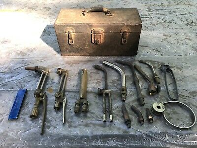 Vintage Torch Heads/Accessories/Metal Carrying Case