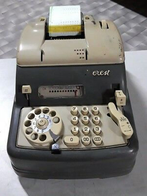 EVEREST MULTIRAPID no OLIVETTI CALCOLATRICE DEL 1955 RARE & VINTAGE CALCULATOR