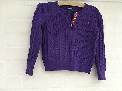 Polo Ralph Lauren purple cable knit sweater jumper 5 years old