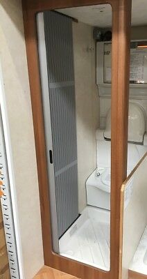 SHOWER ROOM TAMBOUR DOOR SILVER 60cm x 200cm Motorhome/Campervan