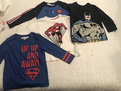 Baby Gap Toddler boys+Junk Food & Dc Comics Super Hero Shirt Lot 2T
