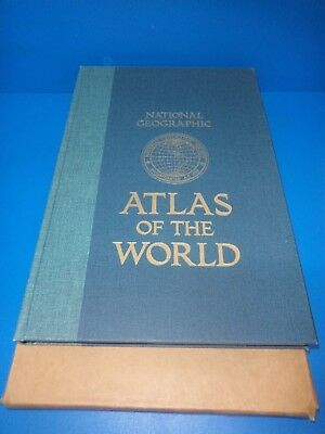 Large National Geographic Atlas Of The World 1987